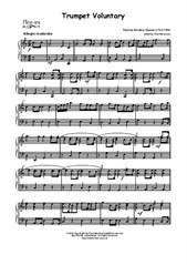 Trumpet Voluntary in C (manualiter) by Th. S. Dupois